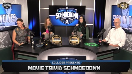 Image result for schmoedown movie trivia Kristian death stare