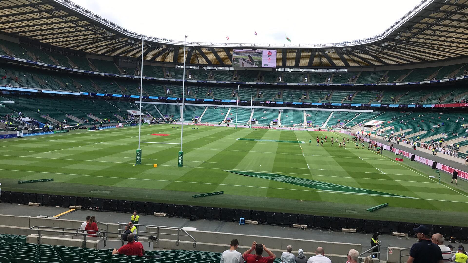 feat rugby Twickenham WC england wales empty