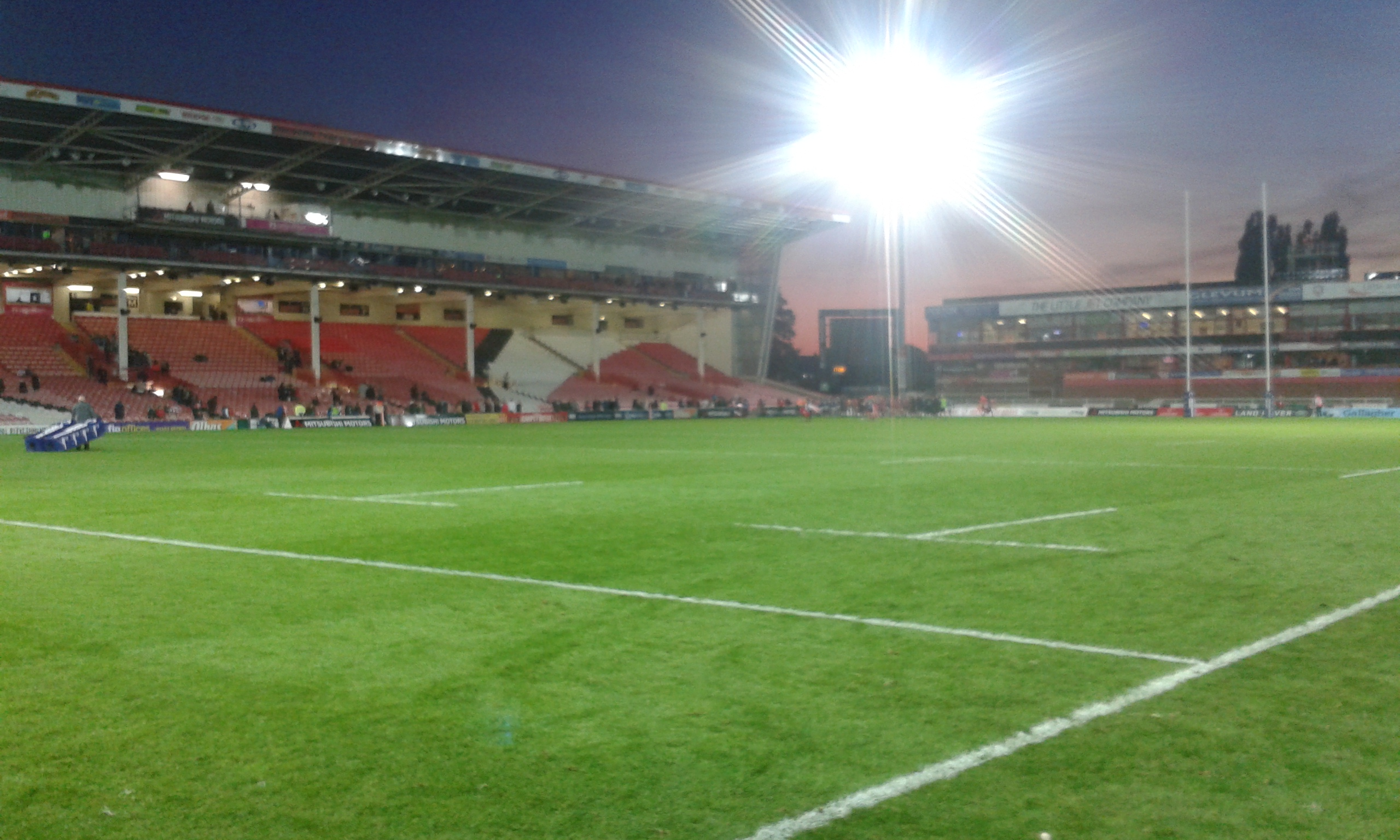 feat rugby kingsholm gloucester main stand west terrace