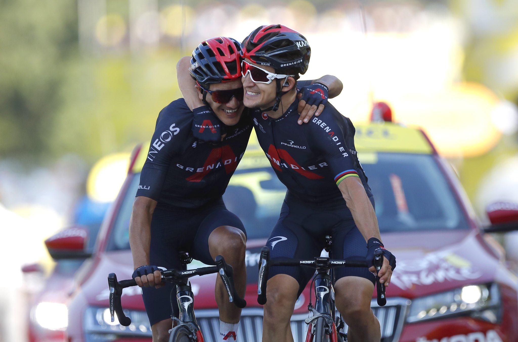 cycling tour de france 2020 ineos carapaz kwiatkowski