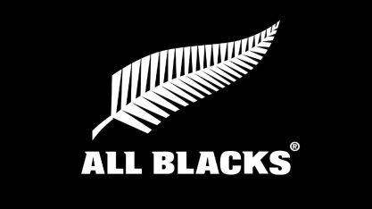 rugby new zealand crest black background