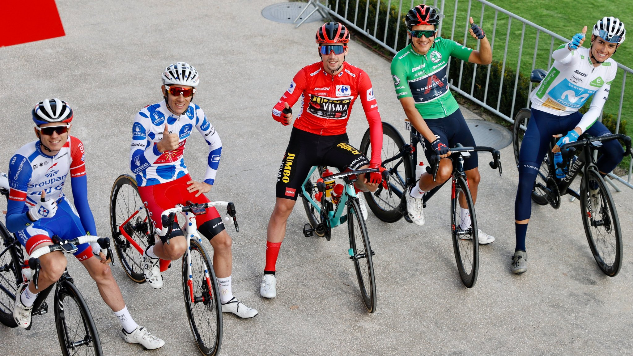cycling vuelta 2020 classification jerseys