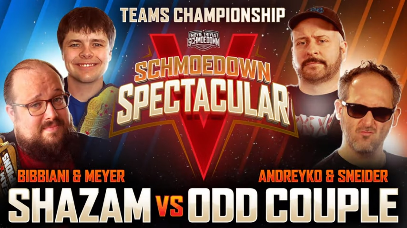 mts schmoedown spectacular v shazam odd couple william bibbiani brendan meyer marcandreyko jeff sneider