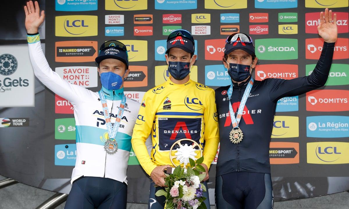 cycling 2021 Criterium du dauphine general classification gc podium richie porte geraint thomas alexey lutsenko