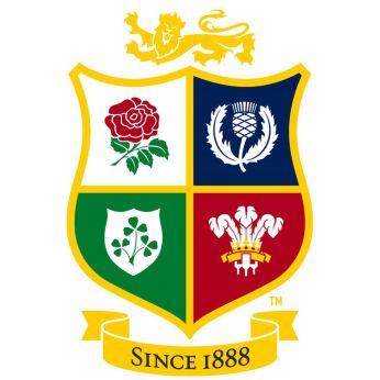 rugby british and irish lions badge white background