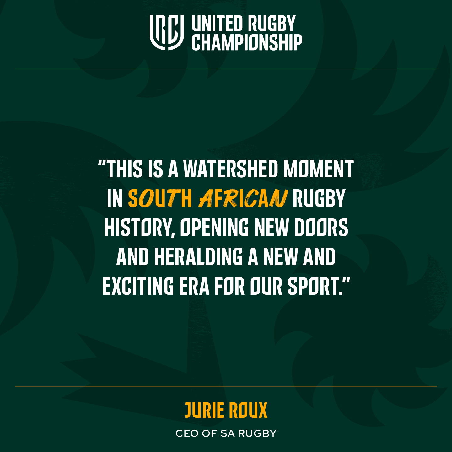 rugby URC Jurie Roux Quote