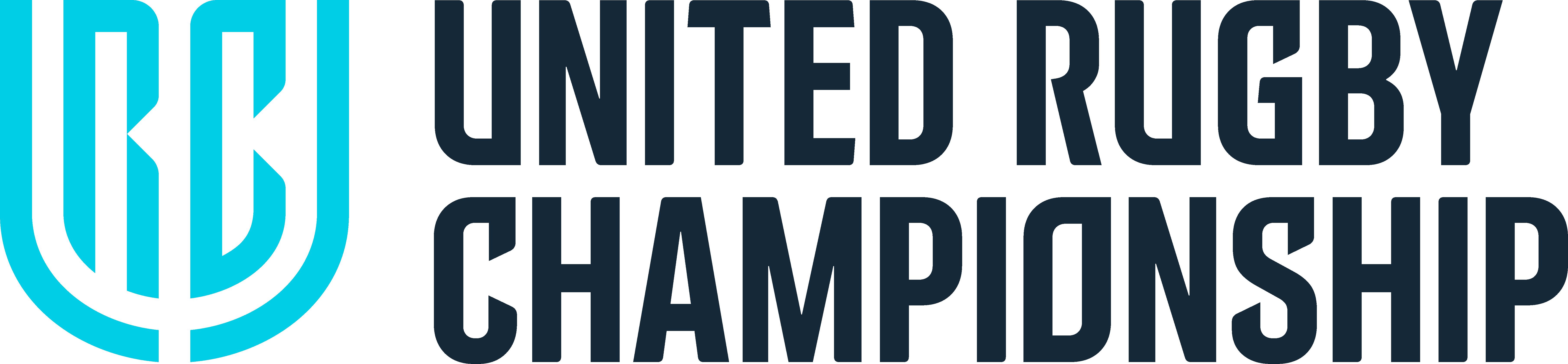 rugby URC logo blue symbol black type