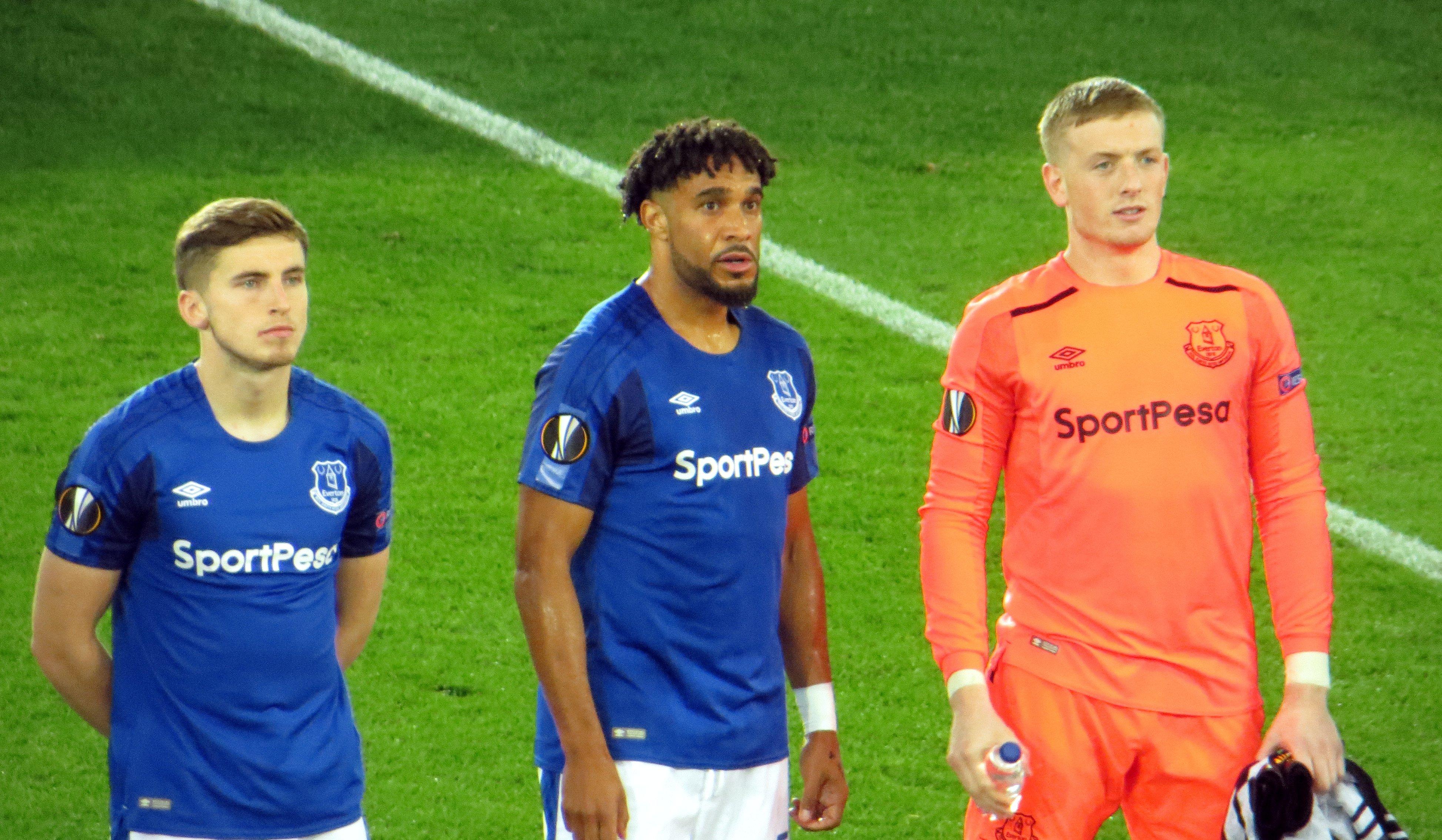football Everton Ashley Williams Jordan Pickford